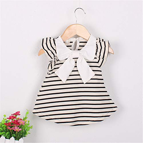 2019 Real Straight Bow Nylon Baby Toddlers Kids Girl Solid Dress Minnie Mouse Sleeveless Bag Demin Casual Dresses 1-5y Ivory 2T