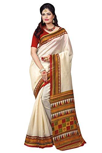 Applecreation Women's bhagalpuri sarees (printed sarees_6PJ706_FreeSize)