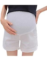 RISTHY Premamá Leggins Pantalones Cortos Shorts Maternidad Ropa Verano Mujer Embarazo Lactancia Circunferencia de Cintura Ajustable Elásticos y Comodos Mujer