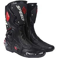 L/ég/ères Blanc 43 EU Respirantes Cheville Bottes de Sport Bikers Bottes Motard Sport Touring Antipluie MRDEAR Bottes de Moto Imperm/éable Chaussures Moto Homme /& Femme Moto Cross Bottes Courtes