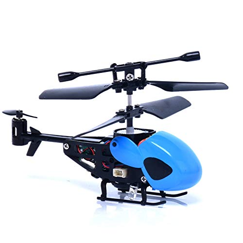 Pinjeer RC Mini Helicopter Radio Remote Control Micro 3.5 Canal Toy Gift Outdoor Toys Machine Drop Shipping Educational Birthday Gifts for Kids 8 + (Color: Blue)