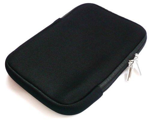 Preisvergleich Produktbild Emartbuy® Schwarz Wasserabweisende Weiche Neopren Hülle Schutzhülle Sleeve Case mit Reißverschluss geeignet für Endless Ideas Bebook Mini (5-6 Zoll Ereader / Tablet)