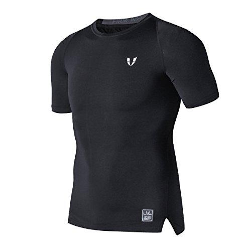 FIRM ABS Herren Luftige Mountainbike Lange Kompression Trainings Kurze Ärmel (Blue Light Basketball-t-shirt)