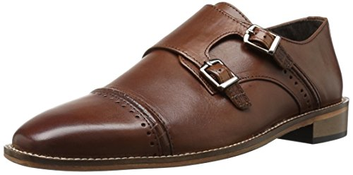 Stacy Adams Men's Rycroft Cap Toe Double Monk Strap Oxford, Cognac, 8 M US