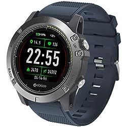 fiveschoice Reloj Inteligente Zeblaze Vibe 3 HR Registro de Actividad de Todo el día 1.22 'IPS Pista de Movimiento Frecuencia cardíaca de Soporte (Azul)