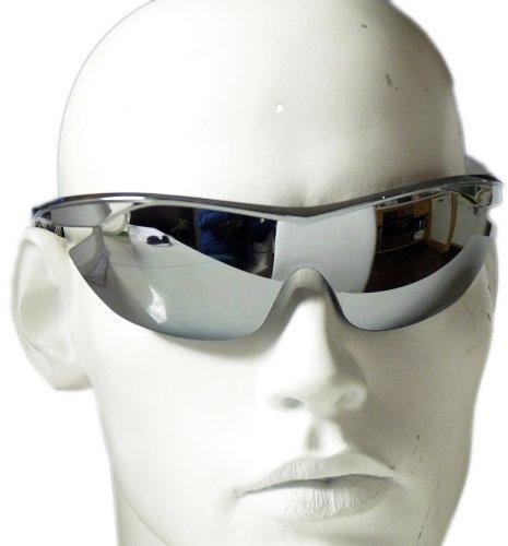 Nick and Ben Softair Schutz-Brille Protection Air-Soft Zubehör siber verspiegelt Sport-Brille Gesichtsschutz
