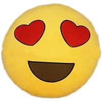 TOOGOO(R)Hot nuovo Emoji occhi a cuore Emoticon Cuscino Rotondo casa cuscino peluche Giocattolo Peluche