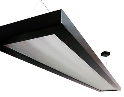 """Pendelleuchte """"Lamp One"""", Massivholz dunkel gebeizt, Edelstahlaufhängung, EVG T5 80W von Leuchtenmanufaktur Rhein-Main bei Lampenhans.de"""