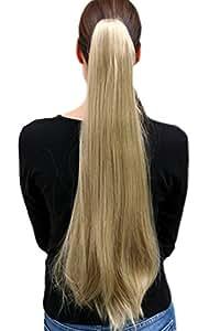 Perruque/Tresse extrêmement longue, lisse et blonde env. 70 cm