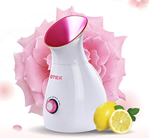 BTEK® Sauna Facial Vaporizador de Sanómetro Iónico Limpieza Profunda