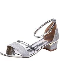 cfc387315383 Amazon.es  Sandalias Color Plata - 38   Zapatos para mujer   Zapatos ...