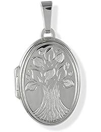 Anhänger Medaillon Lebensbaum 925 Silber zum öffnen / Bildeinlage