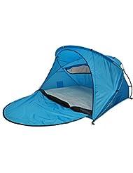 outdoorer Strandmuschel Santorin deluxe, UV 60, Sonnenschutz Zelt zum Verschließen mit Belüftung und Moskitonetz