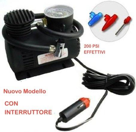 Mini-Kompressor, 12 V, 300 PSI, für den Freizeiteinsatz: Motorrad, Auto, Wohnmobil, Schlauchboot, Bälle etc.
