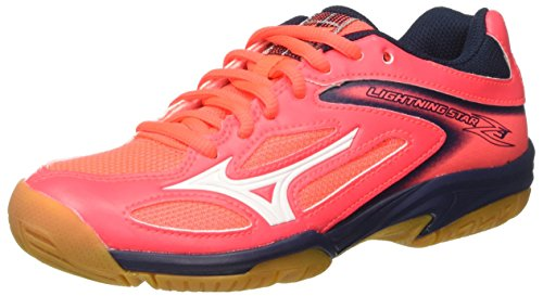 Mizuno Lightning Star Z3 Jnr Scarpe Indoor Multisport Unisex - Bambini, Multicolore (SafetyYellowAtomicBlue/DarkShadow) 32.5 EU