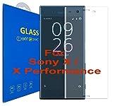 Sony Xperia X / X Performance Schutzfolie [3D gebogen Full Deckung] - 3D Curved Kante zu Kante gehärtetem Glas Displayschutzfolie mit 9H Härte für Sony Xperia X / Sony Xperia X Performance (Clear)
