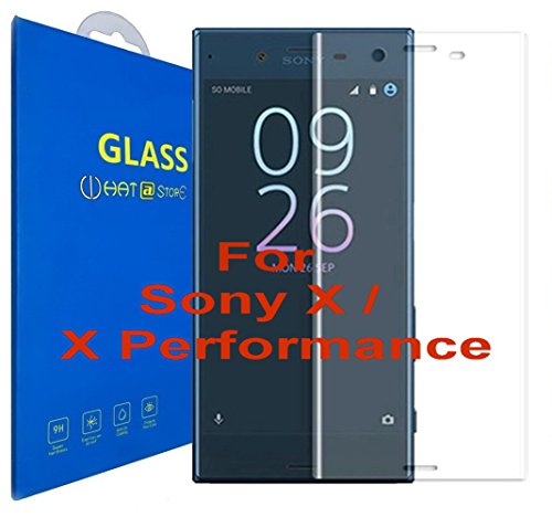 Sony Xperia X / Sony Xperia X Performance - Curvo 3D Cristal Templado Protector de Pantalla, 3D completo borde curvado [ borde a borde ] para Sony Xperia X / Sony Xperia X Performance (Clear)