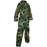 Crazy Team Mono desechable Camuflaje de protección para Paintball, Karting Mixto, Talla L