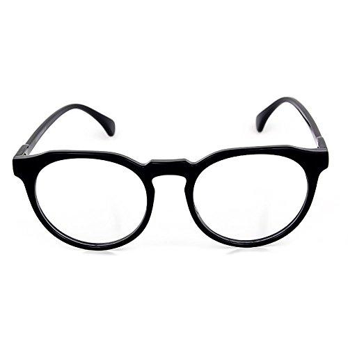 Preisvergleich Produktbild Kiss Brillen in neutralen stil MOSCOT mod. SMOOTH Johnny Depp - optischen rahmen Leichte RETRO mann frau unisex - SCHWARZ