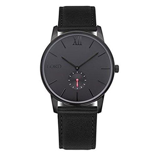 Lord Timepieces Armbanduhr. Einsamkeit schwarz schwarz