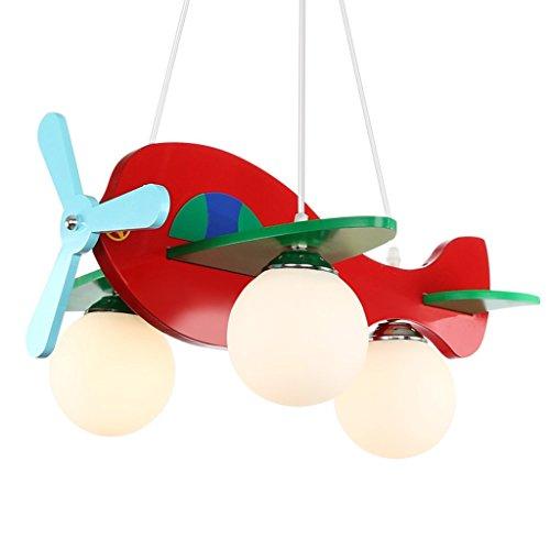 Es gibt eine gute Sache f¨¹r Kinder niedliche kleine Lichter Flugzeugbeleuchtung Schlafzimmerlampe Kronleuchter kreative Cartoon Jungen und M?dchen Zimmer