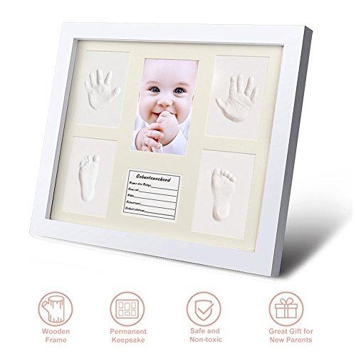 (Baby Handabdruck und Fußabdruck Bilderrahmen Set Säugling Fußabdruck Abdruckset besonderes Geschenk zur Geburt für Neugeborene auch Babyabdrücke von Zwillingen geeignet Baby Dusche Geschenk 6 Rahmen)