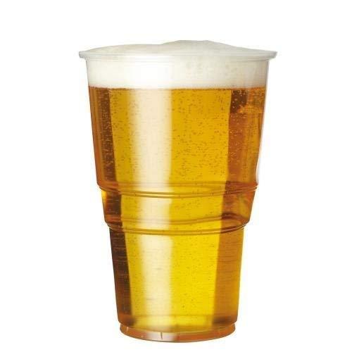 We can source it ltd - 1000 x 20oz completo pinte a tesa flessibili trasparente bicchieri di plastica con ce marcature - forte monouso birra bicchieri