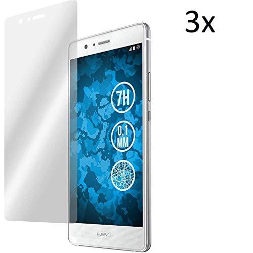 Cardana | 3X bruchsicheres Schutzglas für Huawei Ascend P9 | Schutzfolie aus 9H Echt Glas | angenehme Handhabung| Schutzglas zum Schutz vor Bildschirmschäden | blasenfreie Anbringung | 3 Stück