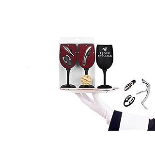 Coffret Sommelier en forme de verre avec 3 accessoires