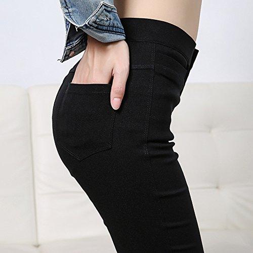 Donna Leggings Pantaloni Straight Da Donna Matita Pantaloni Nero