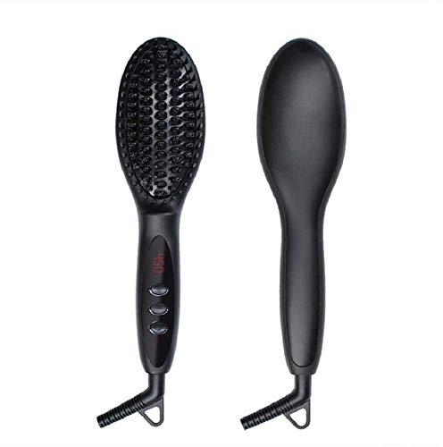BJT Haarglätter Pinsel Kamm Ionic 3 in 1 Haar Flache Lockenstab Auto Shut Off-Funktion Mit LCD-Display Für Alle Haartypen -