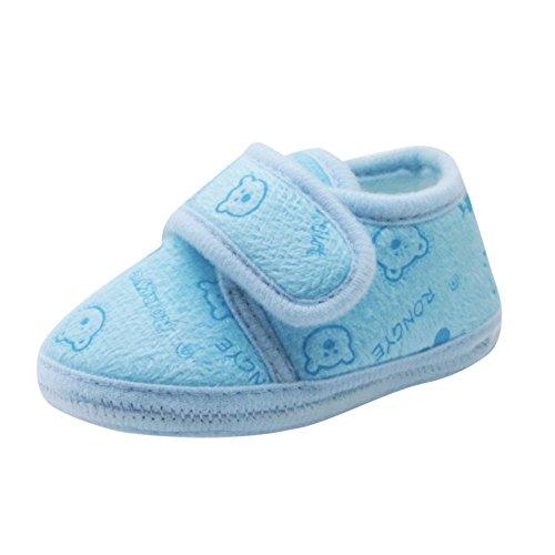 ❤️Amlaiworld Bébé Ours Automne et Hiver Chaussons Couleur Unie Chaussures de Neige Solide Semelle Souple Prewalker Chaussures Chaudes pour Filles 0-12Mois
