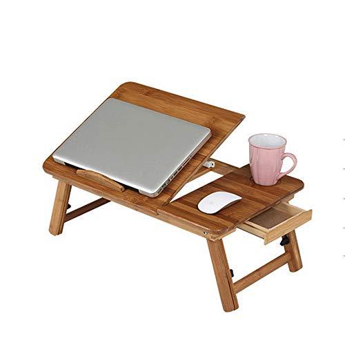 AG Faule Tisch-Klapptisch Portable Bambus Faltbare Laptop Schreibtisch Notebook Höhenverstellbarer Tray Tisch Bett Tisch mit Schublade 55 * 35 * 22.5~31cm Sparen Sie Platz (Kinder-tv-lap Tray)