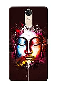 Omnam Face Stature Made Of Gautam Buddha's In Different Colur Back Cover Case For Lenovo K5 Note