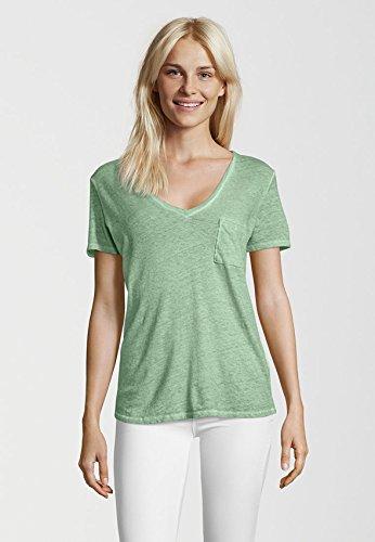 Better Rich Damen T-Shirt Vneck Relax Green
