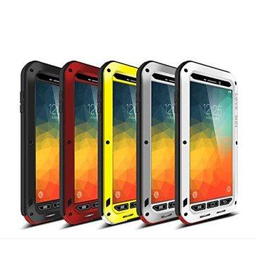 CASE FOR SAMSUNG Handy schützen, Liebe MEI Gorilla-Glas Wasserdichten Aluminiumkastenabdeckung für Samsung Galaxy Note 5 für Samsung (Farbe : Gelb, Kompatible Modellen : Galaxy Note 5)