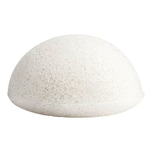 Daorier 1 Pcs Konjac Eponge Visage Naturelle pour l'exfoliation Naturelle et Le Nettoyage Profond Des Pores Forme Hémisphère Convient pour Tous Les Types de Peau (Blanc)