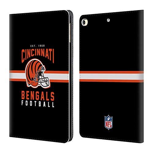 Head Case Designs Offizielle NFL Helm-Buchdruckerkunst 2018/19 Cincinnati Bengals Brieftasche Handyhülle aus Leder für iPad 9.7 2017 / iPad 9.7 2018