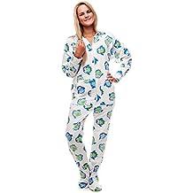 Pijama entero con pies para adultos Búho Nocturno Kajamaz: Pijama entero con pies para adultos