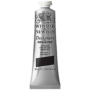 Winsor & Newton Gouache Designer Peinture 37 ml Noir de Jais