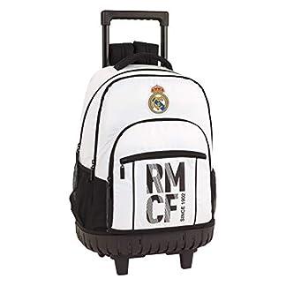 41oYHqeph2L. SS324  - Real Madrid CF Mochila Grande con Ruedas Carro Fijo, Trolley