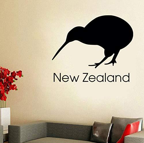 Lvabc Neuseeland Kiwi Wandaufkleber Büro Wand-Dekor Vinyl Abnehmbare Selbstklebende Vogel Wandbild Diy Dekoration 53X44 Cm