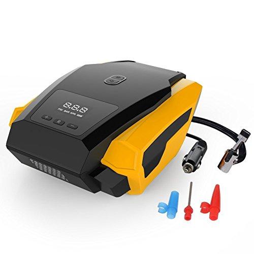 Huimeikang digitale auto Gonfiatore, compressore d' aria portatile pneumatico pompa manometro per pneumatici, fisso Value arresto automatico con lampada LED 12V DC 150PSI 3valvola adattato