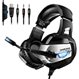 ONIKUMA Gaming Headset for PS4, Xbox One, PC, Nintendo Switch, Stereo Surround Gaming