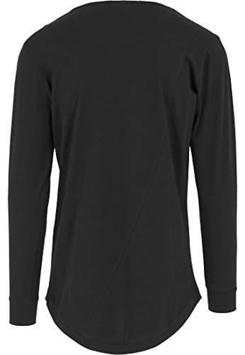 URBAN CLASSICS - Long Shaped Fashion L/S Tee (black) Black