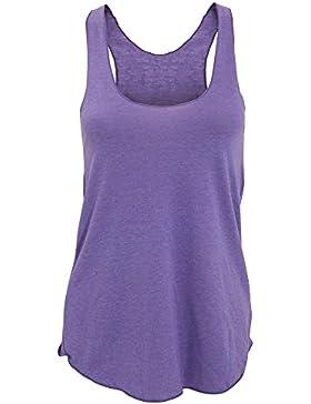 American Apparel Camiseta de Tirantes Lisa Tipo nadadora de Varios Tejidos Para Mujer