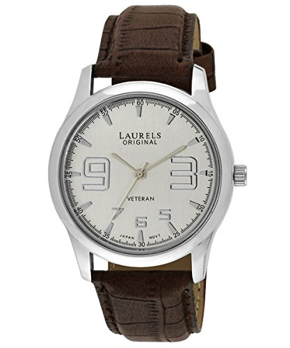 Laurels Veteran 2 Analog Silver Dial Men\'s Watch ( Lo-Vet-202)