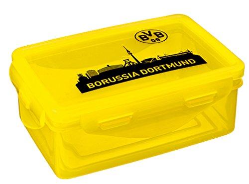 BVB Borussia Dortmund Brotbüchse Brotdose 2er Pack (one size, gelb) (Fußball-silhouette)