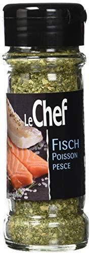 LeChef Fisch Gewürze mit Streuer - Gewürzmischung aus Kräutern, Dill, Thymian und Estragon, 3er Pack (3 x 53 g)