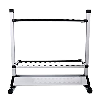 Amarine-made Fishing Rods Holder Portable Aluminum 24 Fishing Rod Racks Great for Storing Fishing Poles on Boat, Truck, Rv At Home or in Garage